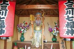 石橋駅に最も近い西念寺の「寿老人」